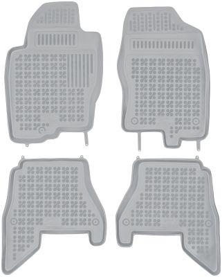 REZAW PLAST popielate gumowe dywaniki samochodowe Nissan Pathfinder III od 2005r. 201804S/Z