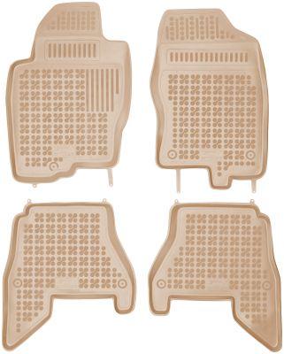REZAW PLAST beżowe gumowe dywaniki samochodowe Nissan Pathfinder III od 2005r. 201804B/Z