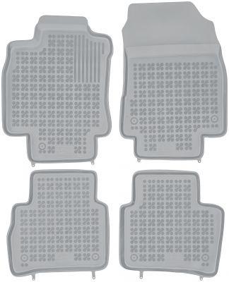 REZAW PLAST popielate gumowe dywaniki samochodowe Nissan Tiida od 2004r. 201805S/Z