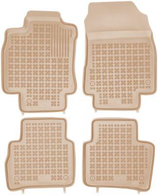 REZAW PLAST beżowe gumowe dywaniki samochodowe Nissan Tiida od 2004r. 201805B/Z