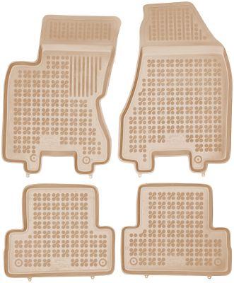 REZAW PLAST beżowe gumowe dywaniki samochodowe Nissan X-Trail II od 2007-2013r. 201806B/Z