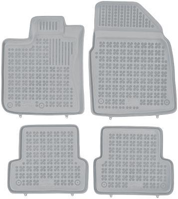 REZAW PLAST popielate gumowe dywaniki samochodowe Nissan Qashqai od 2006-2013r. 201808S/Z