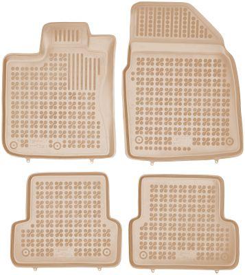 REZAW PLAST beżowe gumowe dywaniki samochodowe Nissan Qashqai od 2006-2013r. 201808B/Z