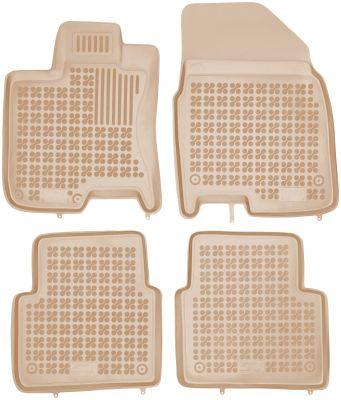 REZAW PLAST beżowe gumowe dywaniki samochodowe Nissan Qashqai +2 od 2008-2013r. 201809B/Z