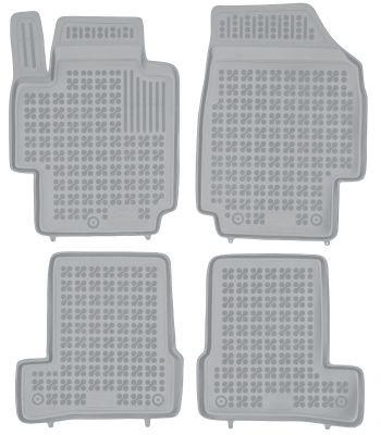 REZAW PLAST popielate gumowe dywaniki samochodowe Nissan Micra III K12 od 2002-2007r. 201810S/Z