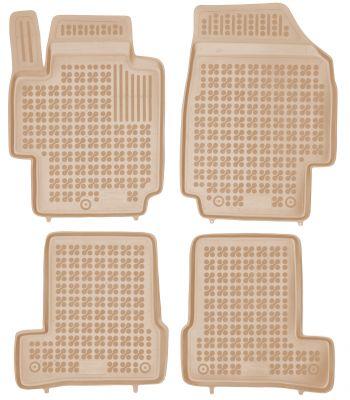 REZAW PLAST beżowe gumowe dywaniki samochodowe Nissan Micra III K12 od 2002-2007r. 201810B/Z