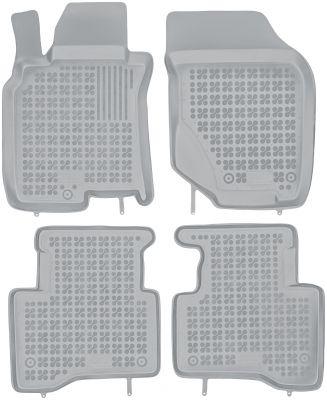 REZAW PLAST popielate gumowe dywaniki samochodowe Nissan X-Trail I od 2001-2007r. 201811S/Z