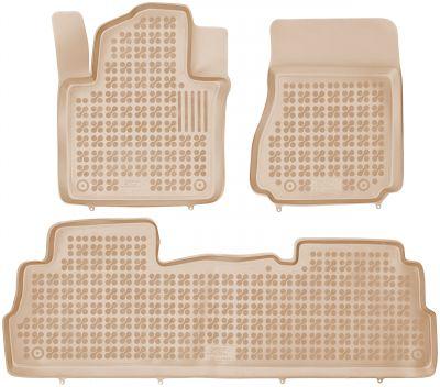 REZAW PLAST beżowe gumowe dywaniki samochodowe Nissan NV200 od 2009r. 201814B/Z