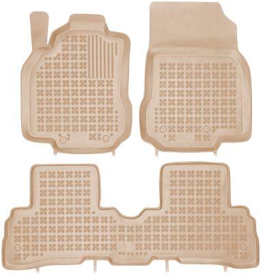 REZAW PLAST beżowe gumowe dywaniki samochodowe Nissan Cube II od 2009r. 201815B/Z