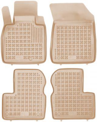 REZAW PLAST beżowe gumowe dywaniki samochodowe Nissan Micra IV K13 od 2010-2016r. 201817B/Z