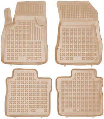 REZAW PLAST beżowe gumowe dywaniki samochodowe Nissan Note II od 2013r. 201818B/Z