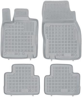 REZAW PLAST popielate gumowe dywaniki samochodowe Nissan Qashqai II od 2014r. 201819S/Z