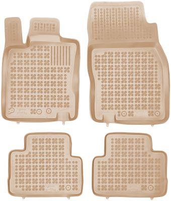REZAW PLAST beżowe gumowe dywaniki samochodowe Nissan Qashqai II od 2014r. 201819B/Z