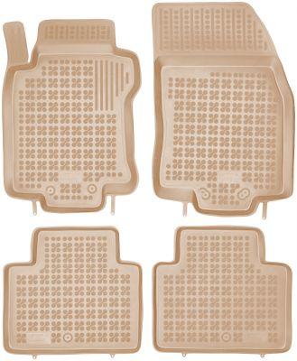 REZAW PLAST beżowe gumowe dywaniki samochodowe Nissan X-Trail III od 2013r. 201820B/Z