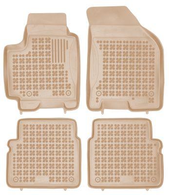 REZAW PLAST beżowe gumowe dywaniki samochodowe Chevrolet Aveo od 2002-2011r. 202101B/Z