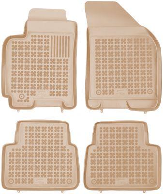 REZAW PLAST beżowe gumowe dywaniki samochodowe Chevrolet Lacetti od 2003-2008r. 202102B/Z