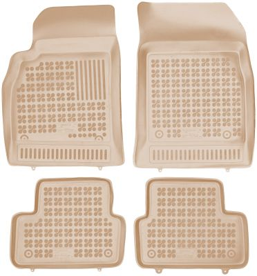 REZAW PLAST beżowe gumowe dywaniki samochodowe Chevrolet Cruze od 2009r. 202103B/Z