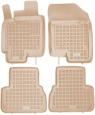 REZAW PLAST beżowe gumowe dywaniki samochodowe Chevrolet Epica od 2006r. 202104B/Z