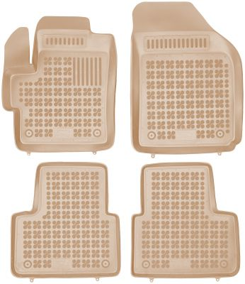 REZAW PLAST beżowe gumowe dywaniki samochodowe Chevrolet Spark od 2005-2009r. 202105B/Z