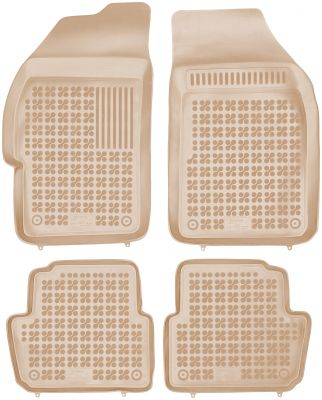 REZAW PLAST beżowe gumowe dywaniki samochodowe Chevrolet Spark II od 2010-2013r. 202106B/Z
