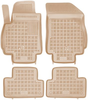 REZAW PLAST beżowe gumowe dywaniki samochodowe Chevrolet Orlando od 2011r. 202107B/Z