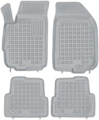 REZAW PLAST popielate gumowe dywaniki samochodowe Chevorlet Aveo IV od 2011r. 202108S/Z