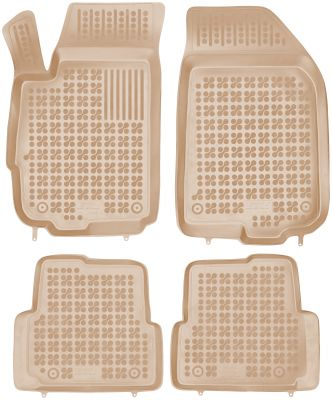 REZAW PLAST beżowe gumowe dywaniki samochodowe Chevrolet Aveo IV od 2011r. 202108B/Z