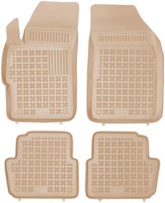 REZAW PLAST beżowe gumowe dywaniki samochodowe Chevrolet Spark II od 2013r. 202109B/Z