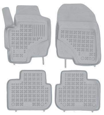 REZAW PLAST popielate gumowe dywaniki samochodowe Mitsubishi Colt 5-drzwiowe od 2008r. 202301S/Z