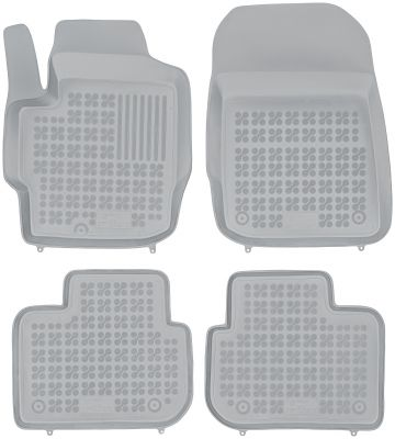 REZAW PLAST popielate gumowe dywaniki samochodowe Mitsubishi Colt 3 drzwiowe od 2008r. 202302S/Z