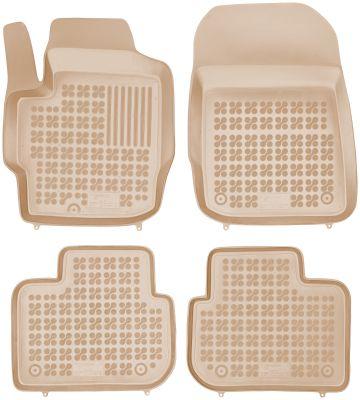 REZAW PLAST beżowe gumowe dywaniki samochodowe Mitsubishi Colt 3- drzwiowe od 2008r. 202302B/Z