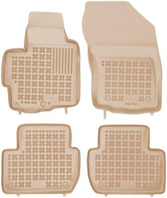 REZAW PLAST beżowe gumowe dywaniki samochodowe Citroen C-Crosser od 2007r. 202303B/Z