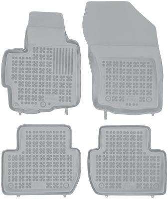 REZAW PLAST popielate gumowe dywaniki samochodowe Mitsubishi Outlander II od 2006-2013r. 202303S/Z