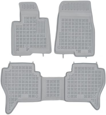REZAW PLAST popielate gumowe dywaniki samochodowe Mitsubishi Pajero III od 2002-2006r. 202304S/Z