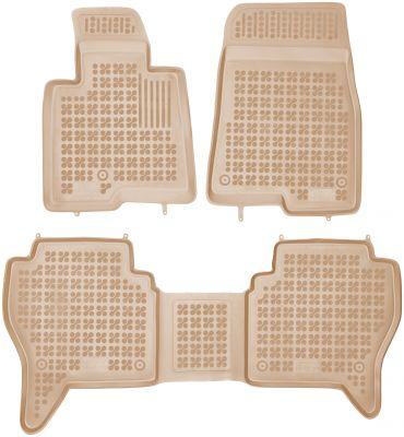 REZAW PLAST beżowe gumowe dywaniki samochodowe Mitsubishi Pajero III od 2002-2006r. 202304B/Z