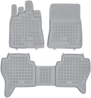 REZAW PLAST popielate gumowe dywaniki samochodowe Mitsubishi Pajero IV od 2006r. 202308S/Z