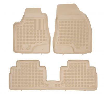 REZAW PLAST beżowe gumowe dywaniki samochodowe Lexus RX 400h od 2003-2008r. 202401B