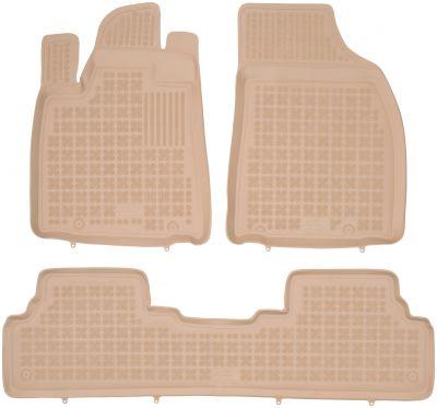 REZAW PLAST beżowe gumowe dywaniki samochodowe Lexus RX 450h od 2012-2015r. 202404B