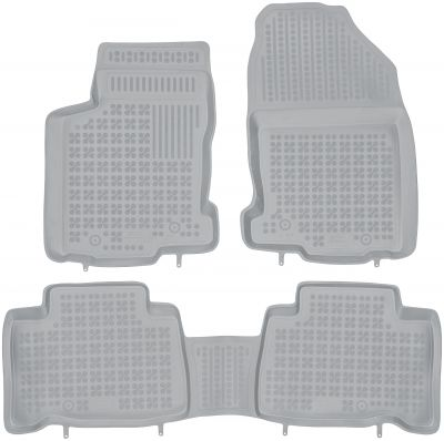 REZAW PLAST popielate gumowe dywaniki samochodowe Lexus NX 300H od 2014r. 202407S/Z