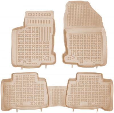 REZAW PLAST beżowe gumowe dywaniki samochodowe  Lexus NX 400h od 2014r. 202407B