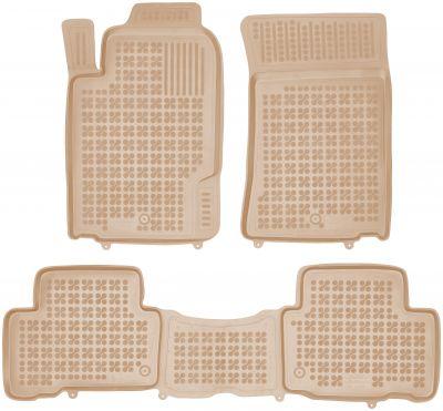 REZAW PLAST beżowe gumowe dywaniki samochodowe SsangYong Rexton W od 2012r. 203001B/Z