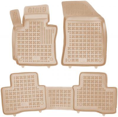 REZAW PLAST beżowe gumowe dywaniki samochodowe SsangYong Tivoli XLV od 2015r. 203002B/Z