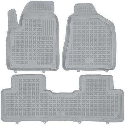 REZAW PLAST popielate gumowe dywaniki samochodowe SsangYong Korando od 2011r. 203003S/Z
