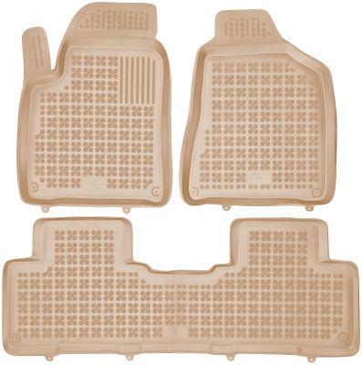 REZAW PLAST beżowe gumowe dywaniki samochodowe SsangYong Korando od 2011r. 203003B/Z