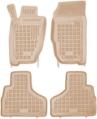 REZAW PLAST beżowe gumowe dywaniki samochodowe Jeep Cherokee od 2004-2008r. 203104B/Z