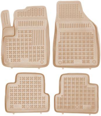 REZAW PLAST beżowe gumowe dywaniki samochodowe Jeep Cherokee KL od 2013r. 203106B/Z