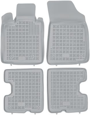 REZAW PLAST popielate gumowe dywaniki samochodowe Dacia Sandero od 2008-2013r. 203403S/Z