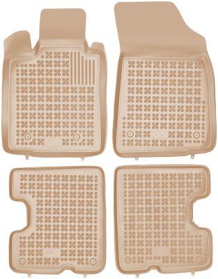 REZAW PLAST beżowe gumowe dywaniki samochodowe Dacia Sandero od 2008-2013r. 203403B/Z