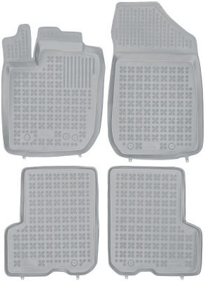 REZAW PLAST popielate gumowe dywaniki samochodowe Dacia Logan II MCV Sedan od 2013r. 203407S/Z