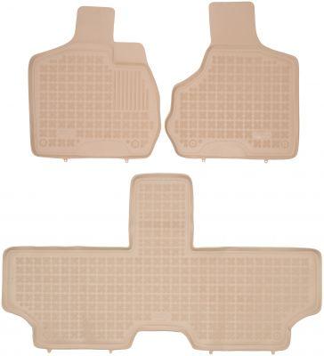 REZAW PLAST beżowe gumowe dywaniki samochodowe Chrysler Voyager IV 5-osobowe od 2001-2007r. 203601A/B